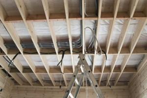 Проводка на потолке