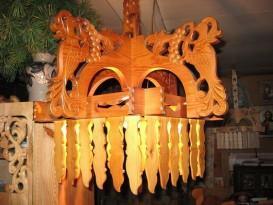 Резной светильник для бани