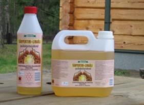 Скипидарно-льняное масло для пропитки древесины