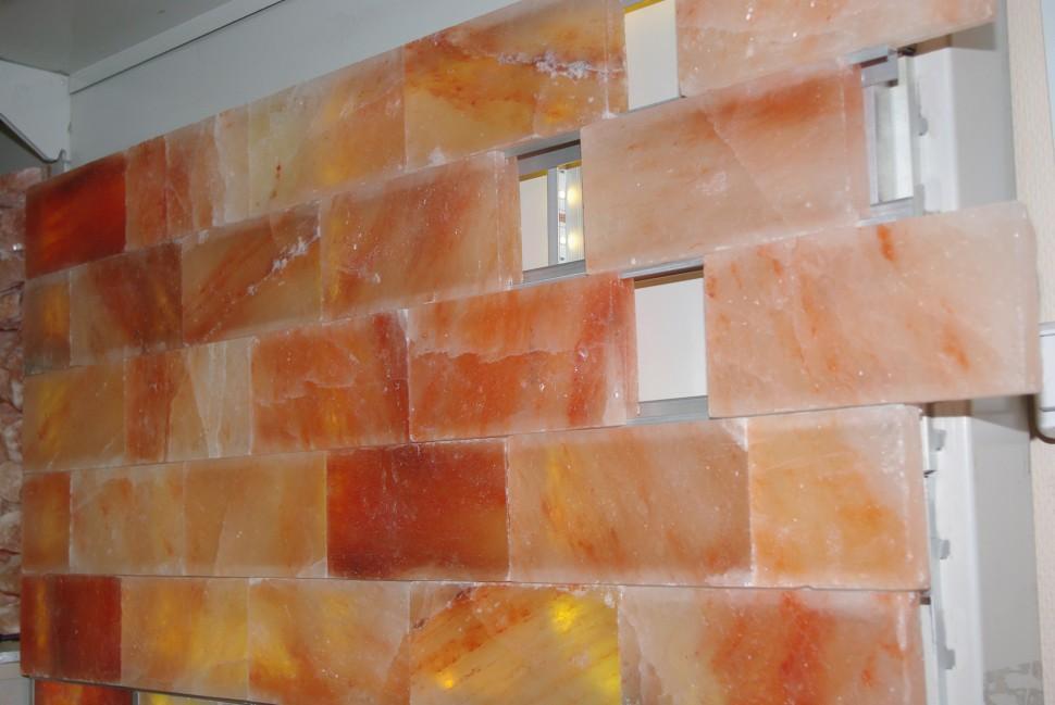 Соляная стена, скрытый монтаж
