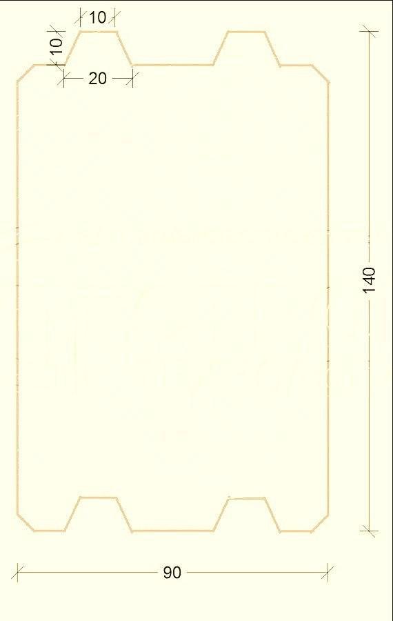 Схема бруса
