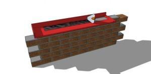 Схема инструмента для кладки кирпича
