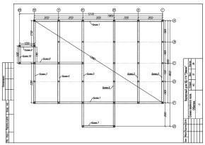 Схема свайного поля