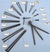 Цена на строительные гвозди существенно зависит от материала, из которого изготовлены гвозди, их размера и веса