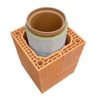 Элементы керамического дымохода
