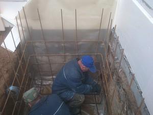 Монтаж армирующей решетки