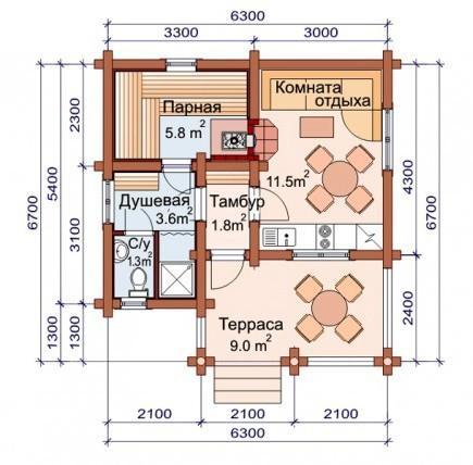 Проект бани-дома (рис. 22)