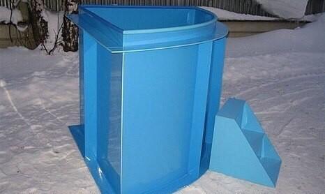 Установка купели из пластика