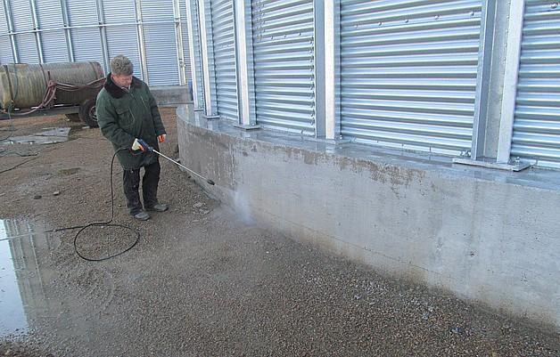 Пример очистки фундамента