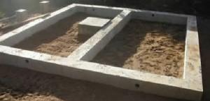 Фундамент под печь не связан с фундаментом бани