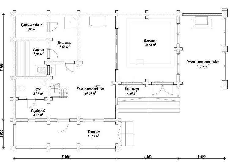 План помещений бани №5