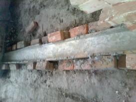 Залитый фундамент в опалубке