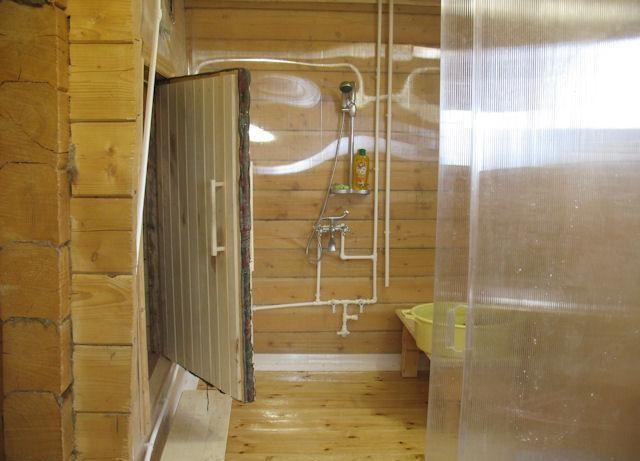 Перегородка в бане между парилкой и мойкой