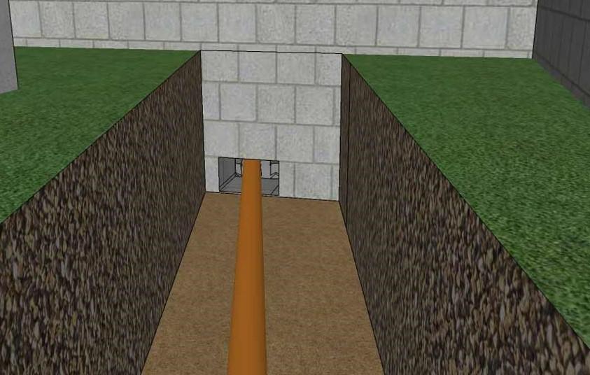 Проход трубы через фундамент