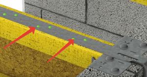 Зелеными точками показано месторасположение саморезов