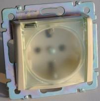 Механизм влагозащищенной розетки скрытой установки с IP454