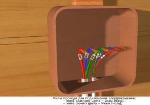 Жилы провода для подключения электрокаменки