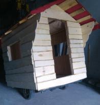 Баня на колесах, строительство