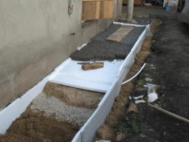 Отмостка из бетона утепленная - фото слоев