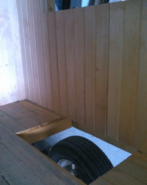 Проем для колес