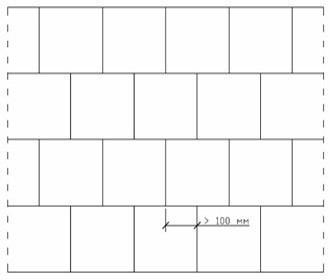 Схема правильной перевязки полноразмерных блоков