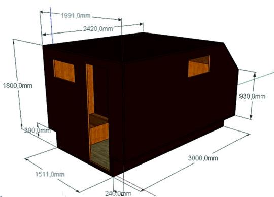 Проект мобильной бани