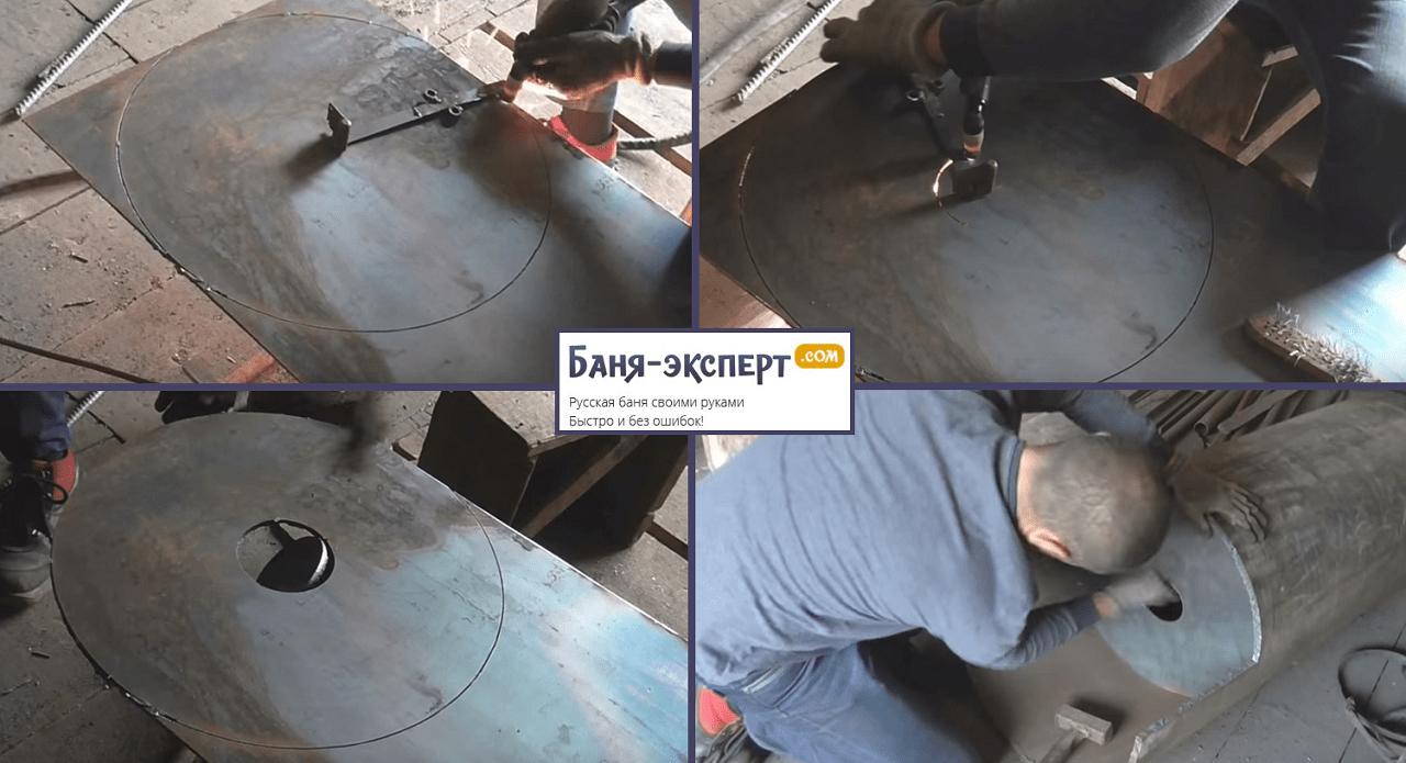 Изготовление и установка стальной пластины