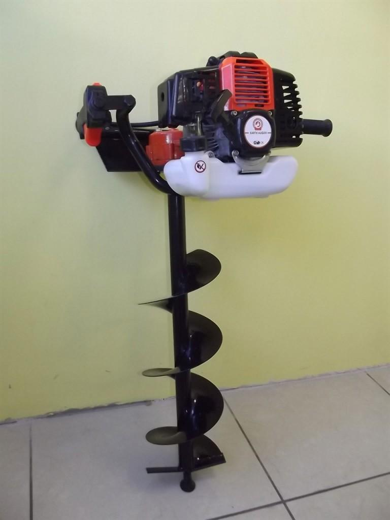 Бензиновый бур F45 со шнеком 100мм