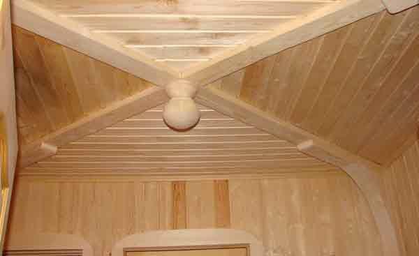 Вариант декоративного настильного потолка