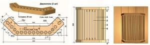 Вентилируемый плафон для бани - схема