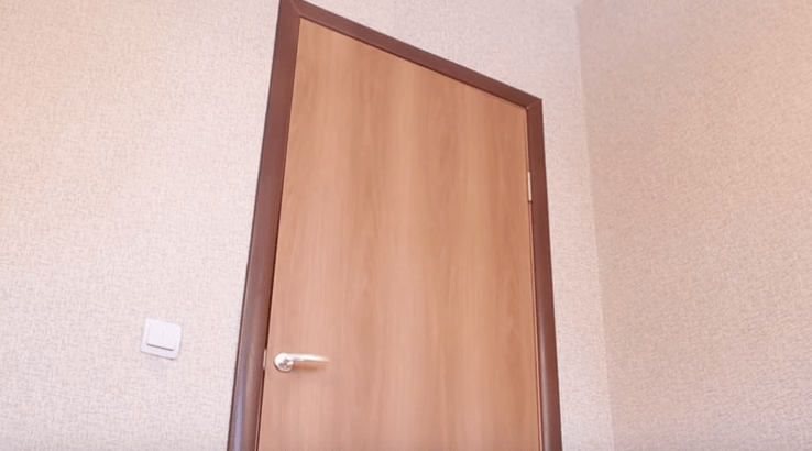 Вид двери с наличниками