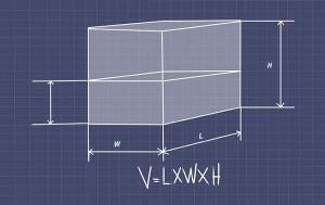Вычисление объема прямоугольного бака