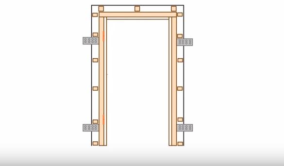 Дверная коробка должна соответствовать размерам проемов