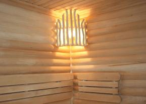 Деревянная решетка для светильника