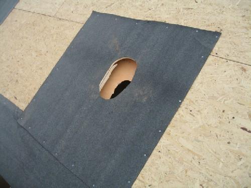 Закрплен подкладочный ковер
