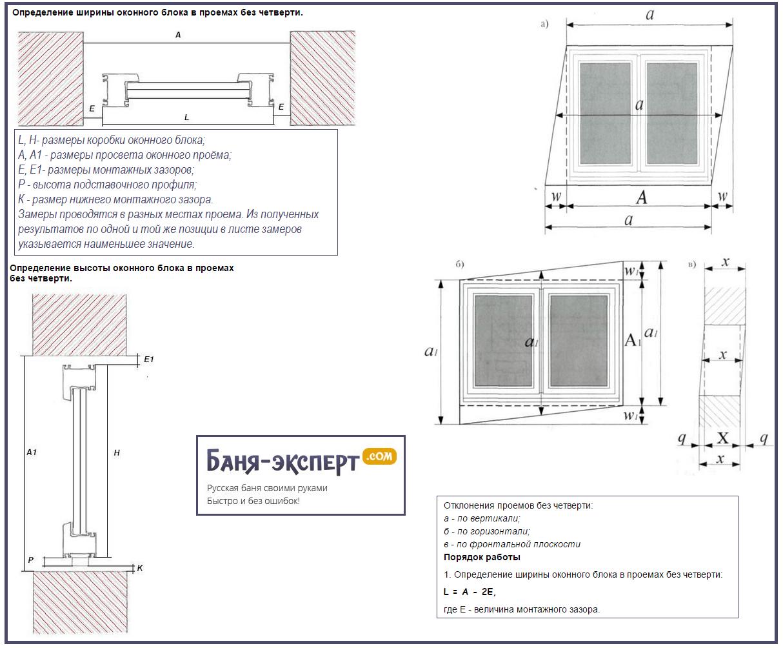Замер оконных блоков