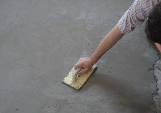 Как сделать затирку стяжки