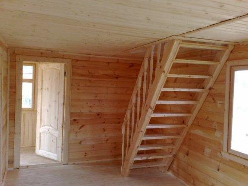 Лестница на мансарду - фото