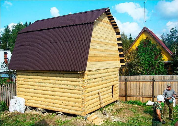 Ломаная крыша, покрытие - ондулин