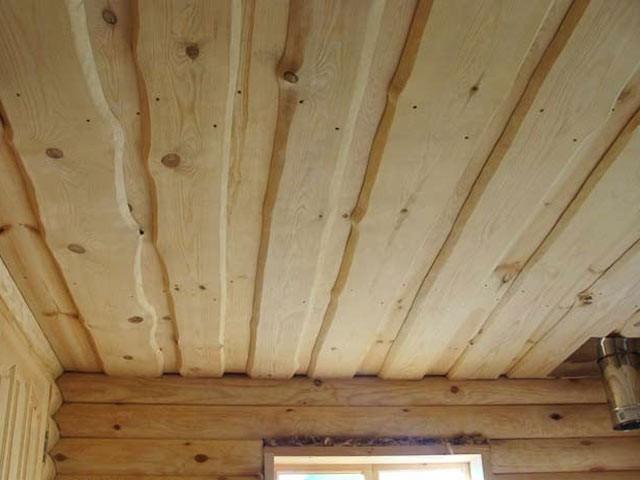 Потолок сруба своими руками 11