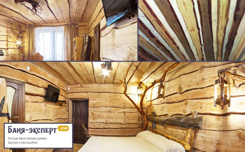 Настильный потолок из неорезной доски