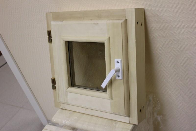 Окно для бани из липы