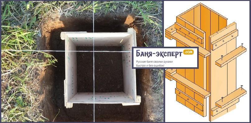 Опалубка - фото и схема