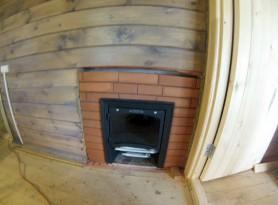 Печка Термофор Саяны, установленная в бане