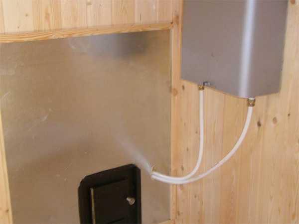 Подключение теплообменника к банной печке пластиковыми трубами