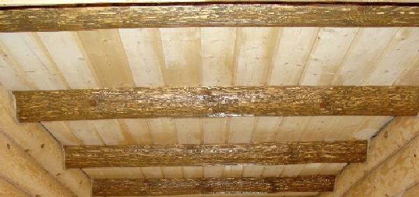 Потолочные балки из бревна
