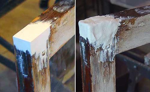 Пример нанесенной и ыровненной шпаклевки