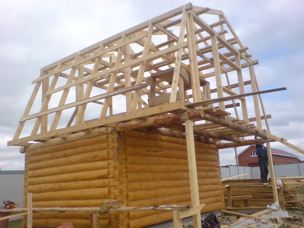 Двускатная мансардная крыша своими руками фото 352