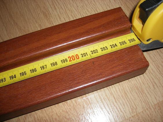 Разметка высоты стоек коробки