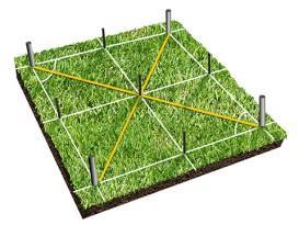 Разметка свайного поля - схема